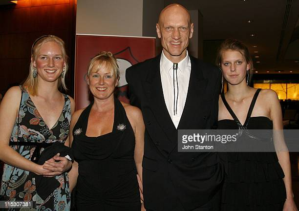 Peter Garrett of Midnight Oil and family during Australian Childrens Music Foundation's 'Music for Children Ball' July 15 2006 at Four Seasons Hotel...