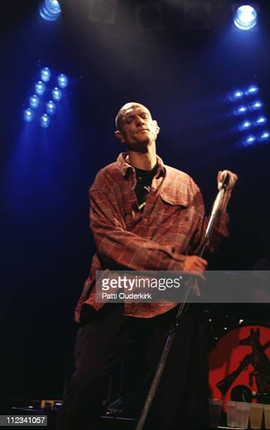 Peter Garrett of Midnight Oil during Midnight Oil and Patti Rothberg Band in Concert at Irving Plaza at Irving Plaza in New York City New York United...