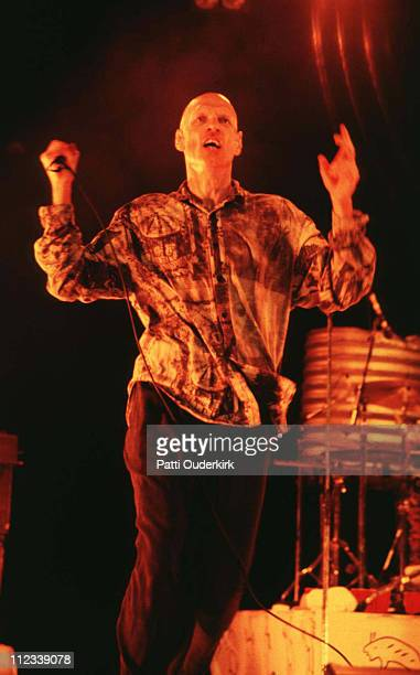 Peter Garrett of Midnight Oil during Midnight Oil in Concert at Jones Beach Theater 1993 at Jones Beach Theater in Wantagh New York United States