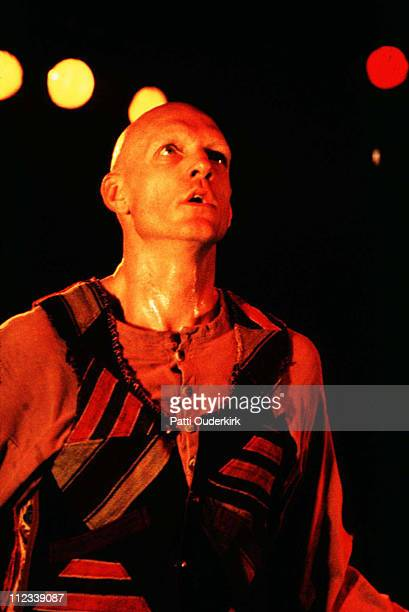 Peter Garrett of Midnight Oil during Midnight Oil in Concert at the Ritz 1993 at Ritz in New York City New York United States