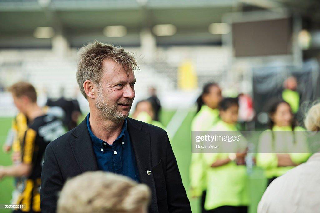 Peter Gerhardsson, head coach of BK Hacken after the Allsvenskan match between BK Hacken and Djurgardens IF at Bravida Arena on May 29, 2016 in Gothenburg, Sweden.