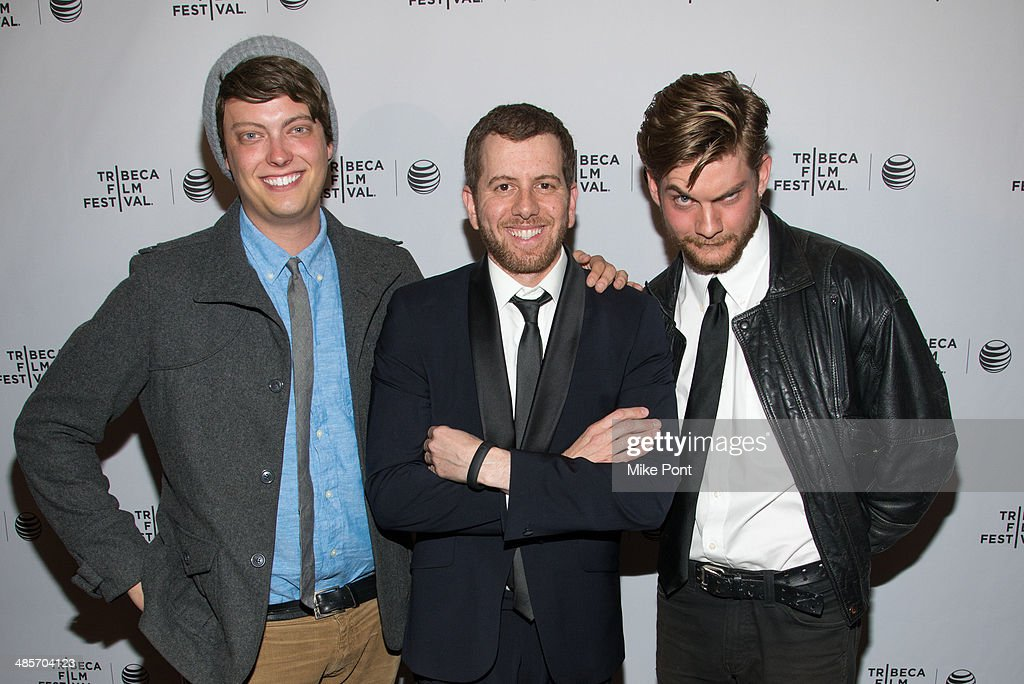 Peter Gilroy, Director Jordan Rubin, and <a gi-track='captionPersonalityLinkClicked' href=/galleries/search?phrase=Jake+Weary+-+Actor&family=editorial&specificpeople=7184445 ng-click='$event.stopPropagation()'>Jake Weary</a> attend the premiere of 'Zombeavers' during the 2014 Tribeca Film Festival at Chelsea Bow Tie Cinemas on April 19, 2014 in New York City.