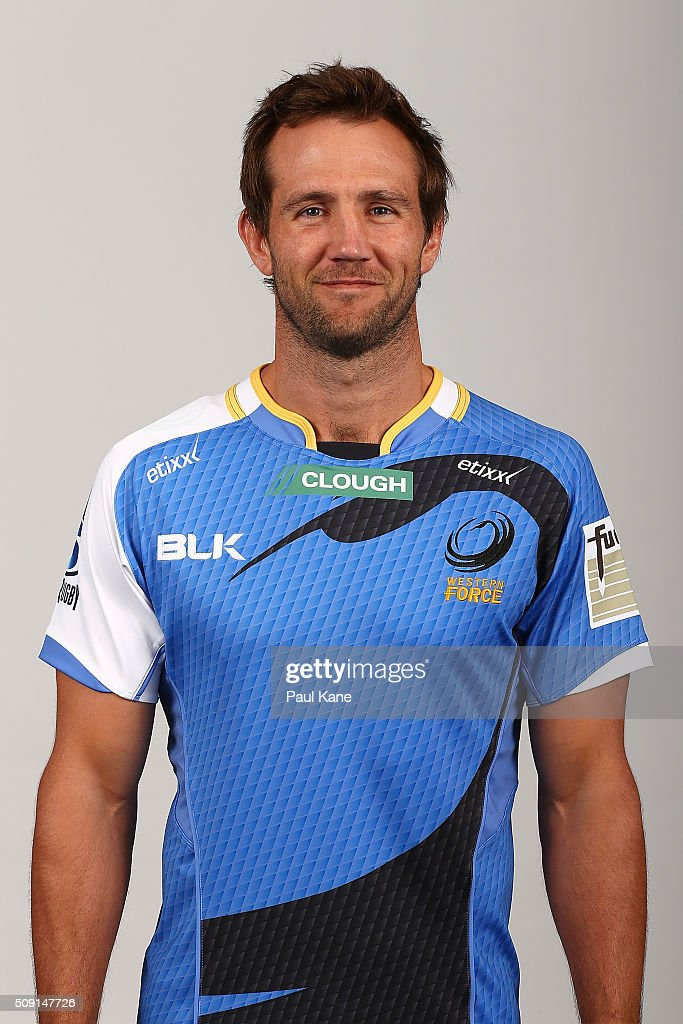 Peter Grant poses during the Western Force 2016 Super Rugby headshots session on February 9, 2016 in Perth, Australia.