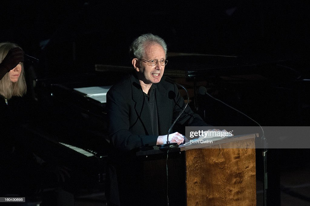 Peter Guralnick opens the show at the Tribute to Cowboy Jack Clement at War Memorial Auditorium on January 30, 2013 in Nashville, Tennessee.