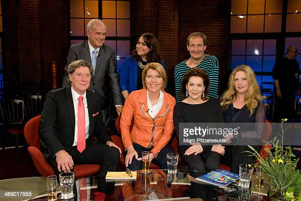Peter Hahne Antoneta Parinussa Juergen Feder Toni Schumacher Bettina Boettinger Hannelore Elsner and Diana Amft attend the 'Koelner Treff' TV Show at...