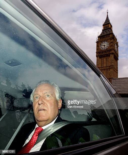 Peter Hain the Welsh Secretary leaves the Houses of Parliament on May 10 2010 in London England Prime Minister Gordon Brown has announced that he is...
