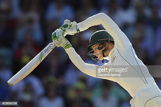 Peter Handscomb of Australia bats during day two of the Third Test match between Australia and South Africa at Adelaide Oval on November 25 2016 in...