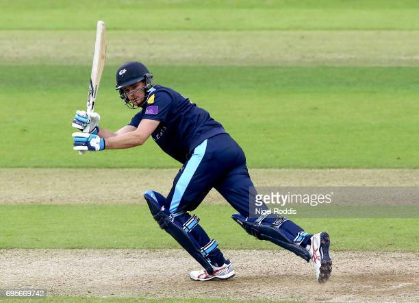 Peter Handscomb of Yorkshire Vikings in action during the Royal London OneDay Cup Play Off between Yorkshire Vikings and Surrey at Headingley on June...