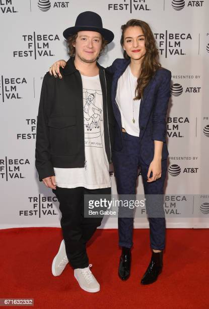 Peter Henry Phillips and Quinn Shephard attend the 'Blame' Premiere during 2017 Tribeca Film Festival at Cinepolis Chelsea on April 22 2017 in New...