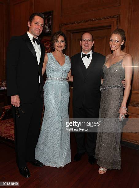 Peter Hermann actress Mariska Hargitay HSH Prince Albert II of Monaco and Charlene Whittstock attend the 2009 Princess Grace Awards Gala at Cipriani...