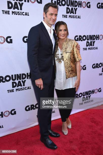 Peter Hermann and Mariska Hargitay attend the 'Groundhog Day' Broadway Opening Night at August Wilson Theatre on April 17 2017 in New York City
