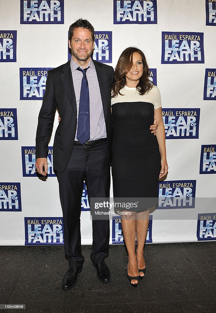 Peter Hermann and <a gi-track='captionPersonalityLinkClicked' href=/galleries/search?phrase=Mariska+Hargitay&family=editorial&specificpeople=204727 ng-click='$event.stopPropagation()'>Mariska Hargitay</a> attend the 'Leap Of Faith' Broadway Opening Night at St. James Theatre on April 26, 2012 in New York City.