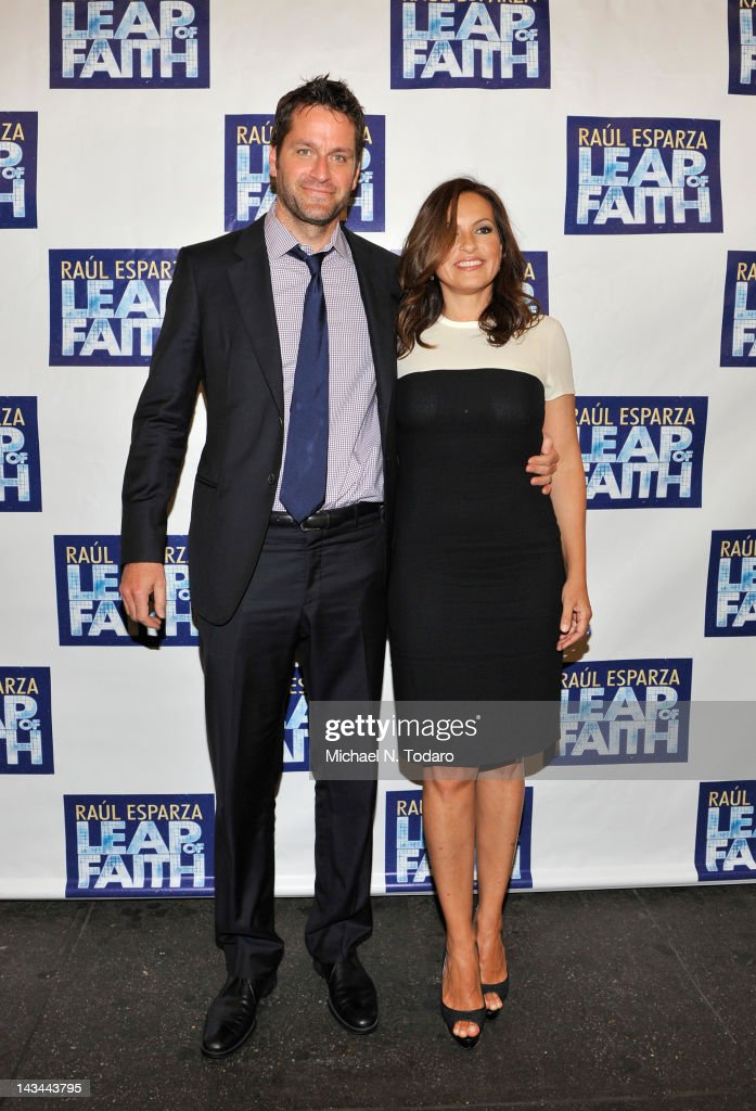 Peter Hermann and Mariska Hargitay attend the 'Leap Of Faith' Broadway Opening Night at St James Theatre on April 26 2012 in New York City