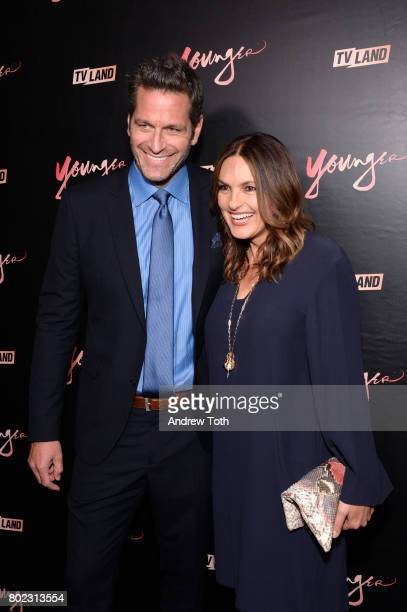 Peter Hermann and Mariska Hargitay attend the 'Younger' season four premiere party on June 27 2017 in New York City