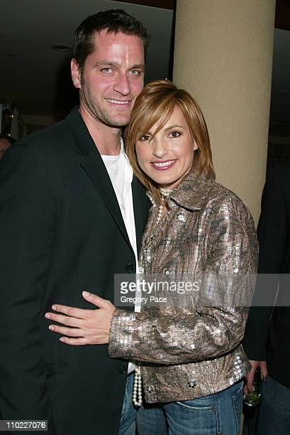 Peter Hermann and wife Mariska Hargitay during Conde Nast Traveler Hot List Party for 2005 at Megu in New York City New York United States