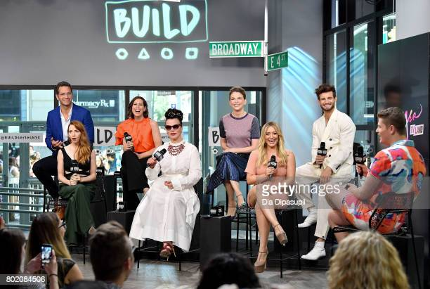 Peter Hermann Molly Bernard Miriam Shor Debi Mazar Sutton Foster Hilary Duff and Nico Tortorella visit Build to discuss 'Younger' at Build Studio on...