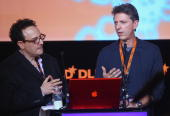 Peter Hirshberg and Tim Kring attend the Digital Life Design conference at HVB Forum on January 24 2010 in Munich Germany DLD brings together global...