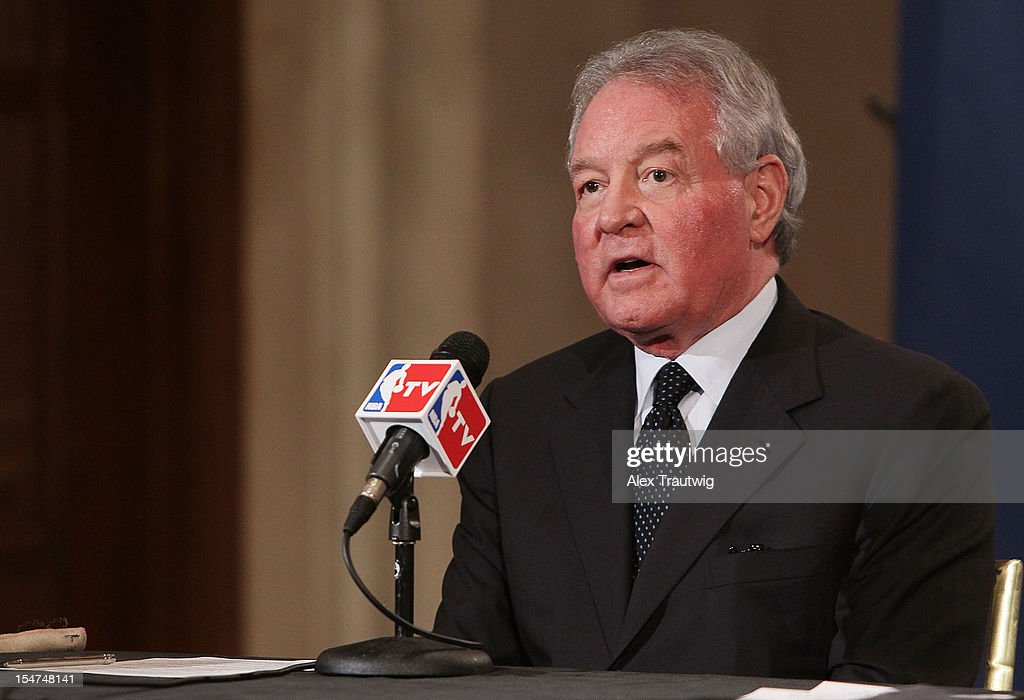 Peter Holt, owner of the San Antonio Spurs, speaks to the media following the NBA Board of Governors Meeting, during which Commissioner David Stern outlined his plans to step down in February 2014, at the St. Regis hotel on October 25, 2012 in New York City.