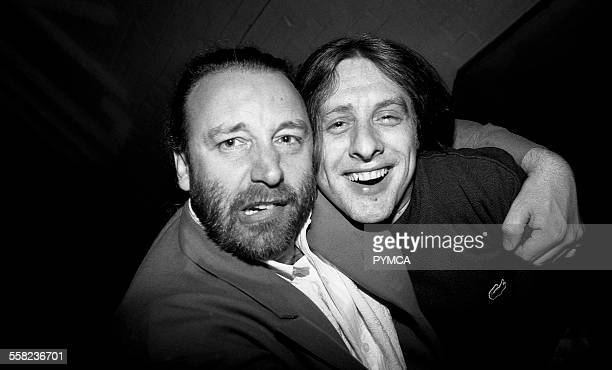Peter Hook and Shaun Ryder in the Hacienda Manchester 1989