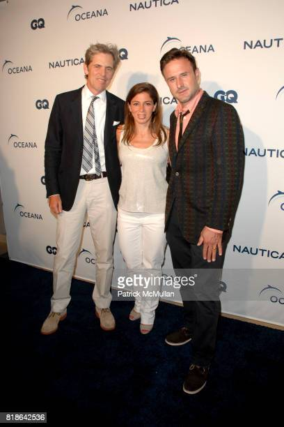 Peter Hunsinger Nina Flood and David Arquette attend GQ World Oceans Day Party at Sunset Tower Hotel on June 8 2010 in West Hollywood California