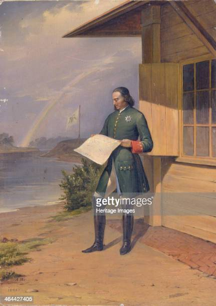 Peter I on the Bank of the Neva River 1843 Found in the collection of the State Russian Museum St Petersburg