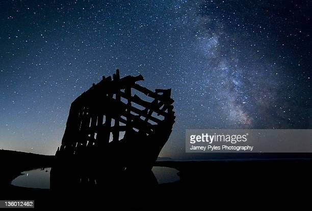 Peter Iredale at Night