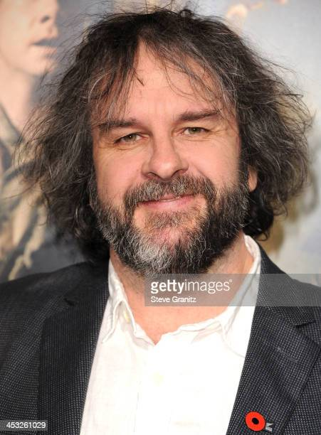 Peter Jackson arrives at the 'The Hobbit The Desolation Of Smaug' at TCL Chinese Theatre on December 2 2013 in Hollywood California