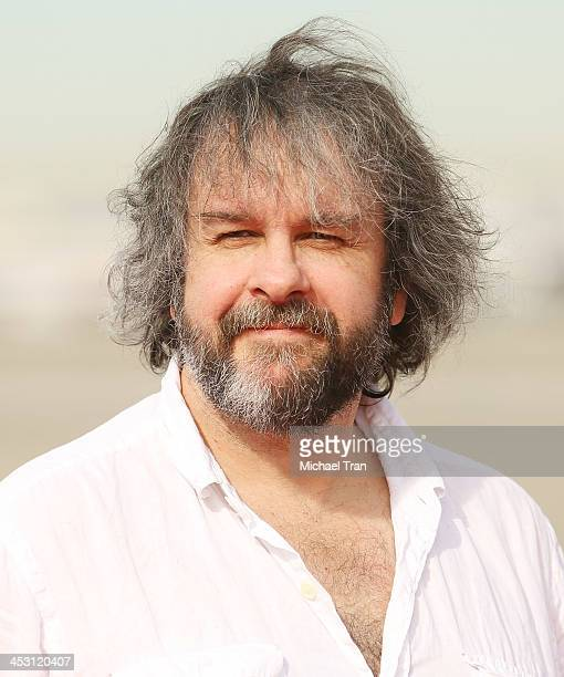 Peter Jackson attends the launch of 'The Hobbit The Desolation of Smaug' Air New Zealand livery held at LAX Flight Path Museum on December 2 2013 in...