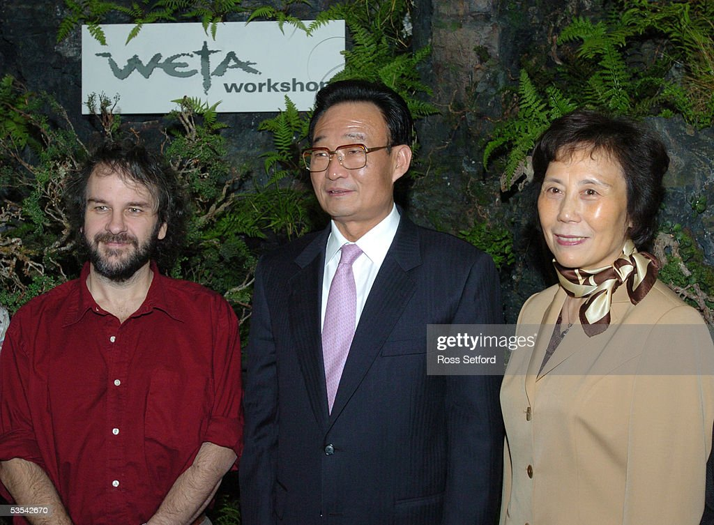 Peter Jackson the Lord of the Rings movie director left with his Excellency Mr Wu Bangguo Chairman of the Standing Committee of the National Peoples...