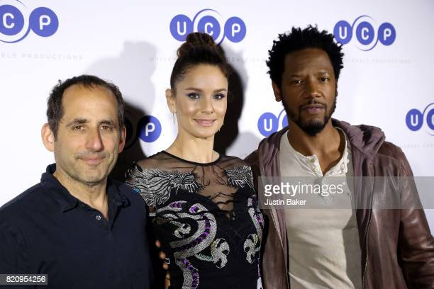 Peter Jacobson Sarah WayneCallies and Tory Kittles from Colony attend Universal Cable Productions Annual ComicCon Celebration at Omnia Nightclub on...
