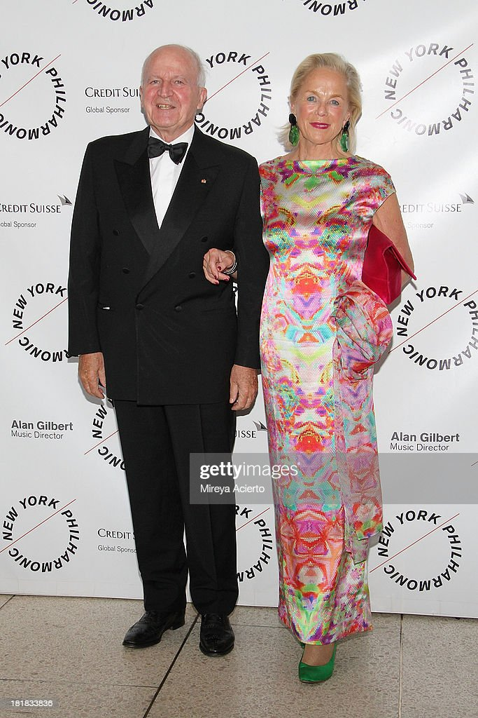 Peter Jungen and Renada Jungen attend the New York Philharmonic 172nd Season Opening Night Gala at Avery Fisher Hall, Lincoln Center on September 25, 2013 in New York City.