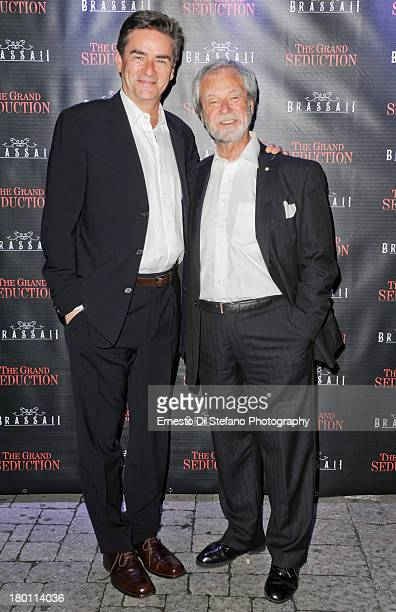 Peter Keleghan and Gordon Pinsent attends 'The Grand Seduction' after party at Brassaii restaurant and lounge on September 8 2013 in Toronto Canada