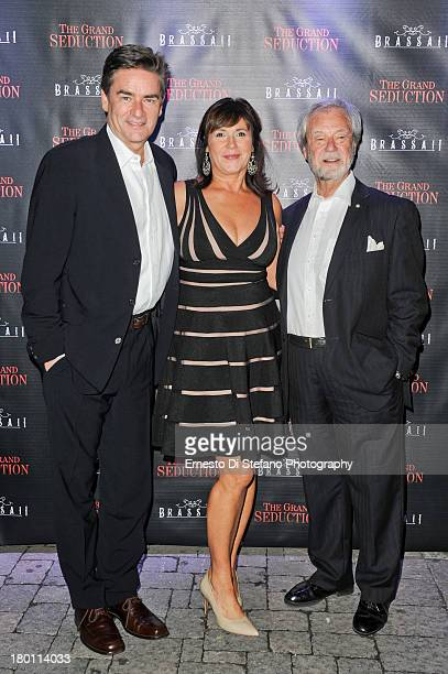 Peter Keleghan Cathy Jones and Gordon Pinsent attend 'The Grand Seduction' after party at Brassaii restaurant and lounge on September 8 2013 in...