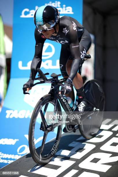 Peter Kennaugh of Great Britain riding for Team Sky rides during stage five of the AMGEN Tour of California from Ontario to Mt Baldy on May 18 2017...
