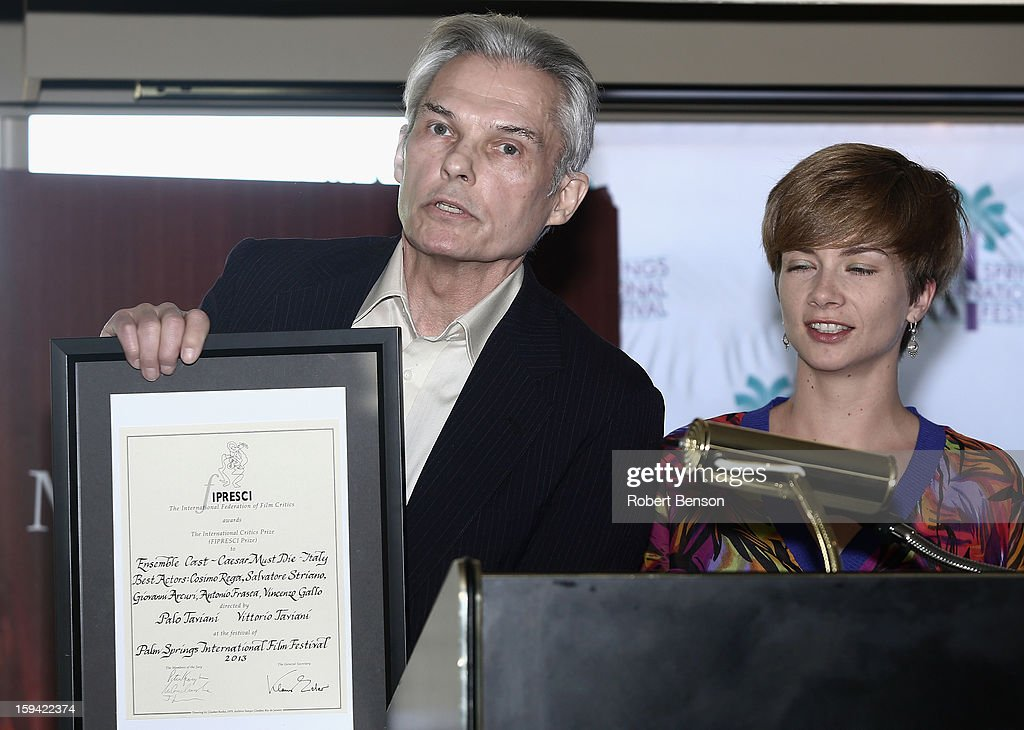 Peter Keough and Malwina Grochowska at a Festival Awards Brunch at the 24th Annual Palm Springs International Film Festival on January 13, 2013 in Palm Springs, California.