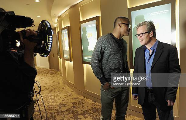 Peter 'Kid Chocolate' Quillin and boxing trainer and film subject Freddie Roach attend a screening of the HBO Original Series of 'On Freddie Roach'...