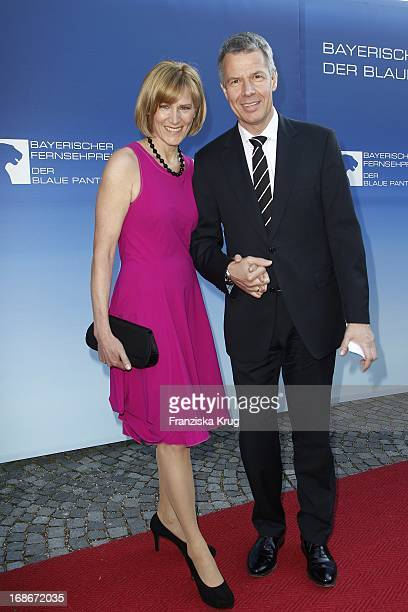 Peter Kloeppel and Wife Carol at The Bavarian Television Award at Prinzregententheater in Munich