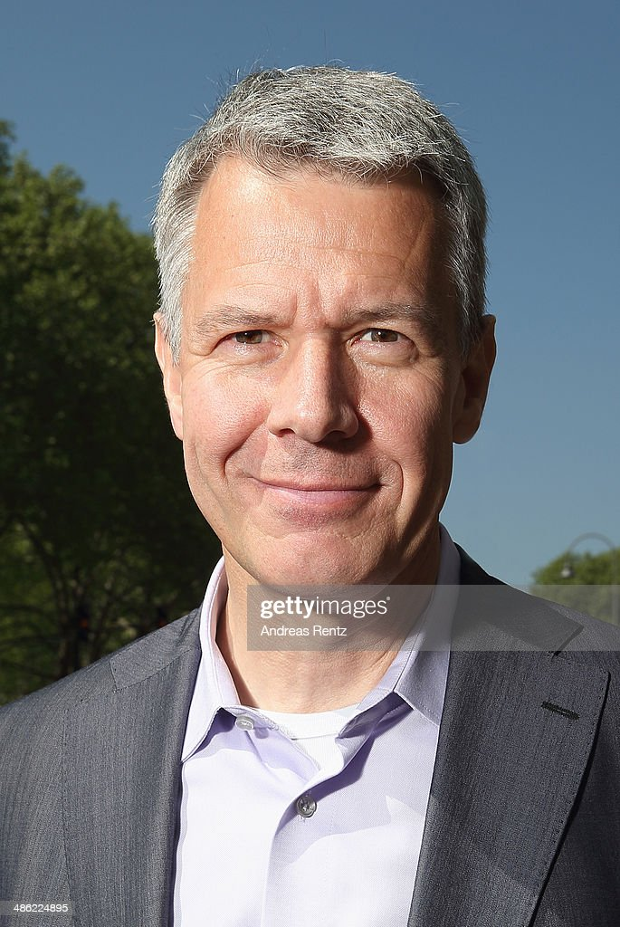 Peter Kloeppel (RTL chief-editor) smiles during the world day of the book on April 23, 2014 in Cologne, Germany. World book day is a yearly event on April 23rd, organized by UNESCO to promote reading, publishing and copyright.