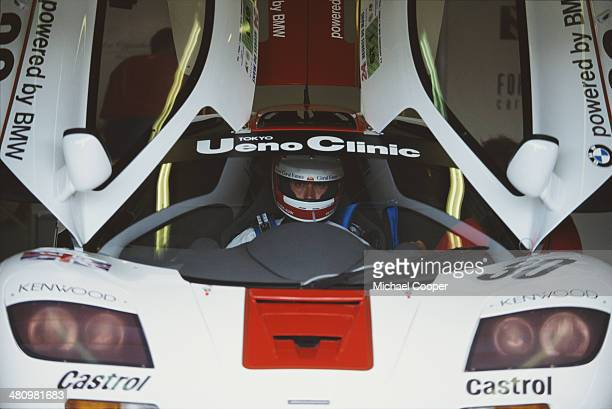 Peter Kox of the Netherlands sits aboard the West Competition McLaren F1 GTR during the FIA World Sportscar Championship 24 Hours of Le Mans race on...