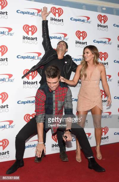 Peter Kraus Dean Unglert and Becca Tilley attend the 2017 iHeartRadio Music Festival at TMobile Arena on September 22 2017 in Las Vegas Nevada