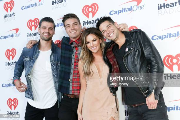 Peter Kraus Dean Unglert Becca Tilley and Wells Adams arrive at the 2017 iHeartRadio Music Festival at TMobile Arena on September 22 2017 in Las...