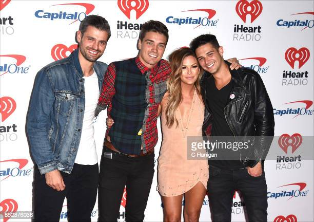 Peter Kraus Dean Unglert Becca Tilley and Wells Adams attend the 2017 iHeartRadio Music Festival at TMobile Arena on September 22 2017 in Las Vegas...
