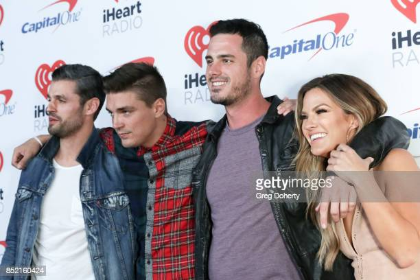 Peter Kraus Dean Unglert Ben Higgins and Becca Tilley arrive at the 2017 iHeartRadio Music Festival at TMobile Arena on September 22 2017 in Las...