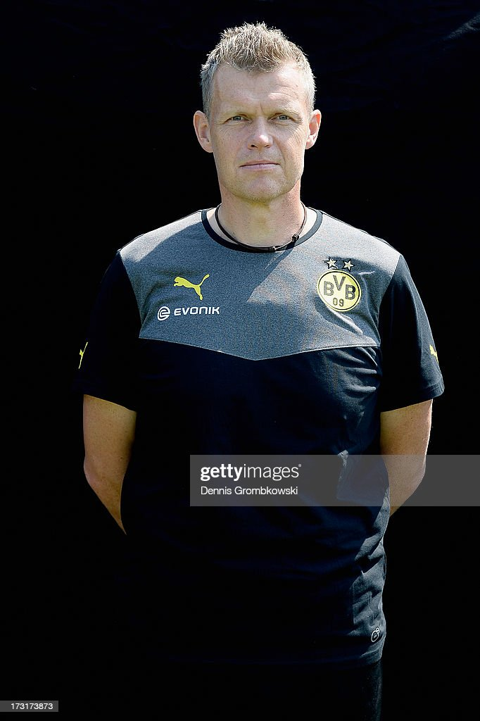 Peter Kuhnt poses during the Borussia Dortmund Team Presentation at Brackel Training Ground on July 9, 2013 in Dortmund, Germany.