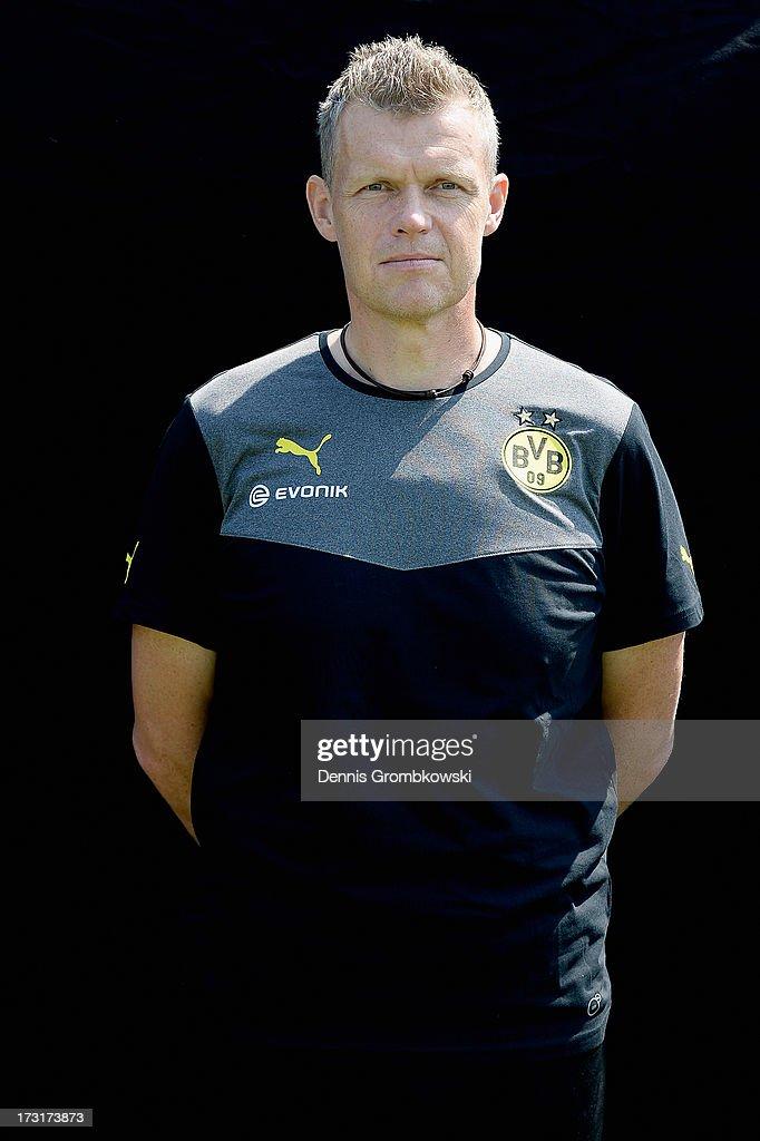 Peter Kuhnt poses during the Borussia Dortmund Team Presentation at Brackel Training Ground on July 9, 2013 in Dortmund, Germany.