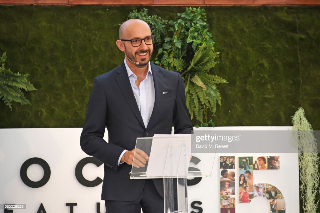 Peter Kujawski, Chairman of Focus Features, speaks at Focus Features' 15th Anniversary party at the Cannes Film Festival at Baoli Beach on May 19, 2017 in Cannes, France.