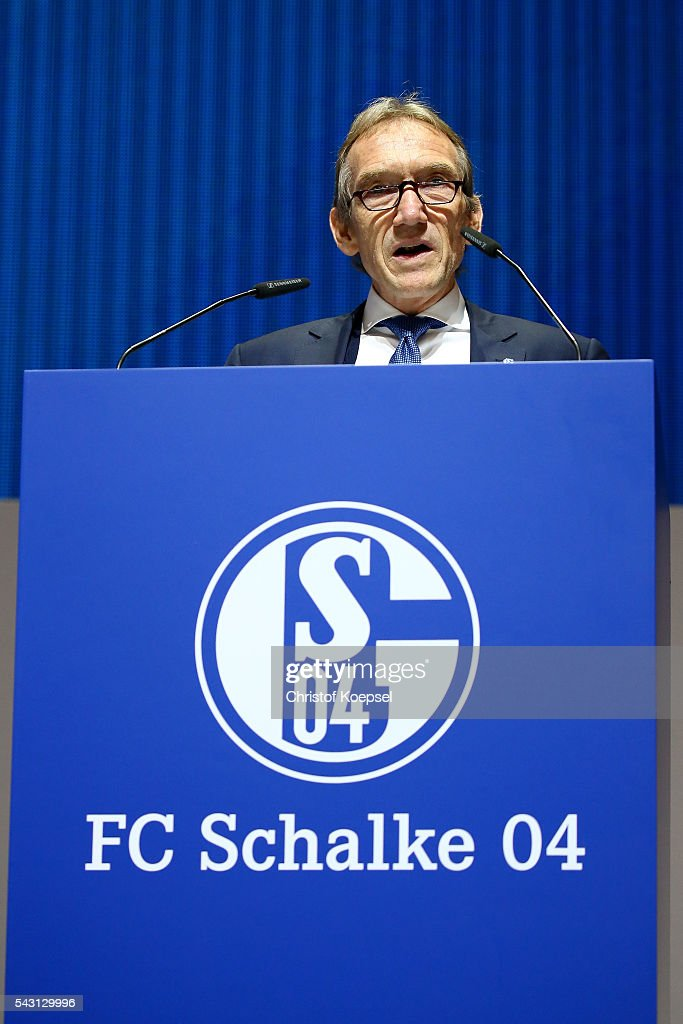 Peter Lange, supervisory board is voted during the FC Schalke 04 general assembly at Veltins Arena on June 26, 2016 in Gelsenkirchen, Germany.