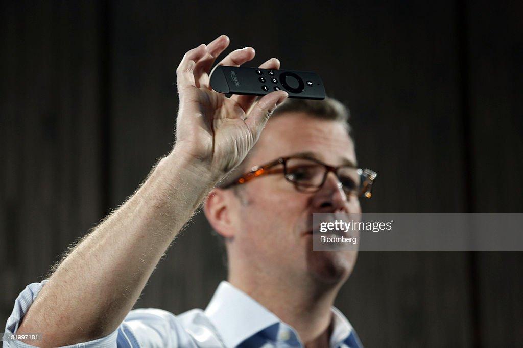 <b>Peter Larsen</b>, vice president of Amazon.com Inc. introduces Amazon Fire TV ... - peter-larsen-vice-president-of-amazoncom-inc-introduces-amazon-fire-picture-id481997181