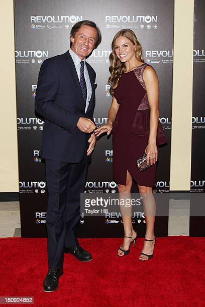 Peter LaunskyTieffenthal and Tracy Spiridakos attend 'Revolution The Power Of Entertainment' at United Nations Headquarters on September 17 2013 in...