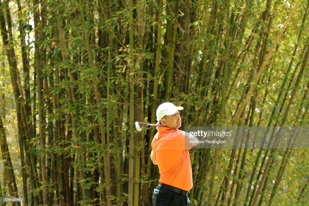 <a gi-track='captionPersonalityLinkClicked' href=/galleries/search?phrase=Peter+Lawrie&family=editorial&specificpeople=208686 ng-click='$event.stopPropagation()'>Peter Lawrie</a> of Ireland hits his tee shot on the 17th during the first round of the Trophee Hassan II at Royal Golf Dar Es Salam on May 5, 2016 in Rabat, Morocco.